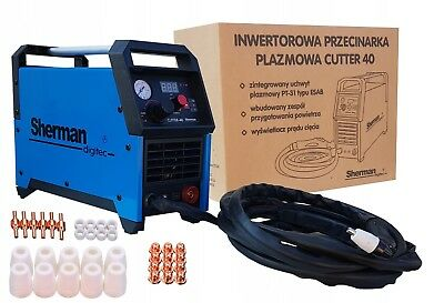 Plasma Cutting Cutter 40 Sherman 34A with LCD Display & Reducer + Accessories