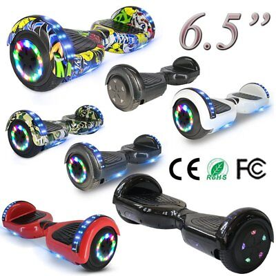 """Hoverboard 6.5"""" Luci Led Bluetooth Speaker Scooter Overboard Monopattino Graffit"""