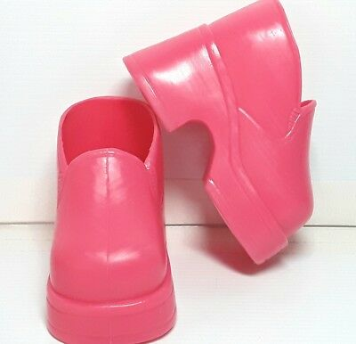 Pink doll shoes Thin plastic High Heels Vintage Can Fit My Child Cabbage Patch