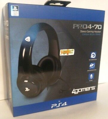 PRO4-70 BLACK Stereo Gaming Headset Playstation 4 PS4 NEW SEALED Free UK p&p