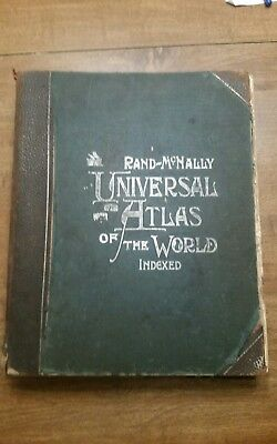 1900 Rand McNally Universal Atlas of the World - Indexed