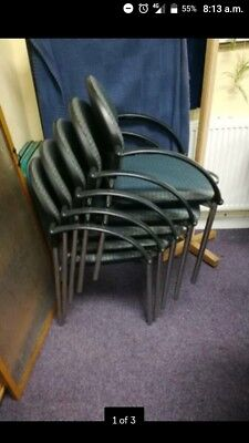 DINING CHAIRS BANQUETING , used, Stack-able. 27 available.   £5 price per chair.