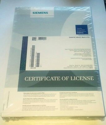 Siemens SIMATIC WinCC Basic V15 Software, 6AV2100-0AA05-0AA5, NEW SEALED wDONGLE