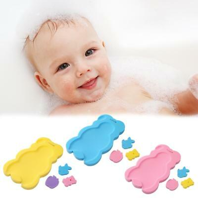 Portable 0-2Y Baby Bath Tub Anti-slip Sponge Foam Pad Safety Mat Bath Support UK