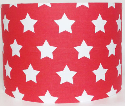 Etoile, Red and White Star Large Fabric Light Shade