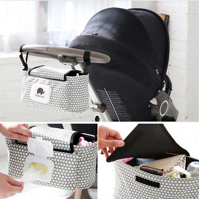 Universal Baby Trolley Storage Bag Stroller Cup Carriage Pram Buggy Organizer UK