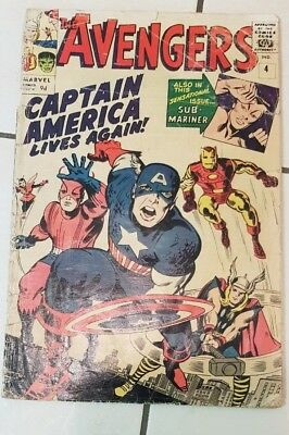 The Avengers #4 1st silver age Captain America