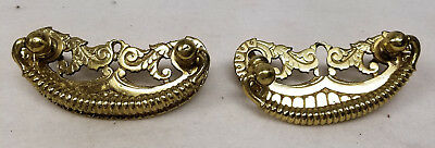 Antique VIntage Brass Bronze Drawer Pulls Architectural Salvage Hardware