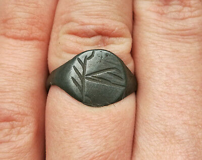 **TREE OF LIFE** Ancient Bronze Legionary Roman Ring AMAZING