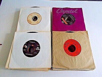 Lot Of 25 45RPM 60s 70s 80s Country Pop Jukebox Wholesale Random Vinyl Record