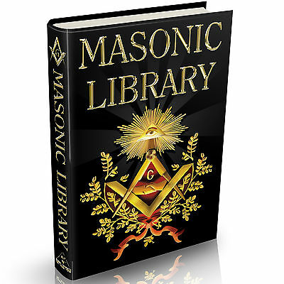 Ultimate Masonic Library - MASSIVE 1800+ Books on DVD Freemason The Craft Occult