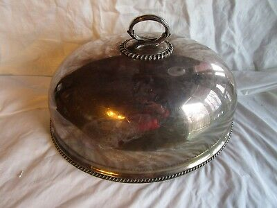 Antique Silver Plate Meat Dome Mappin & Webbs Sheffield England