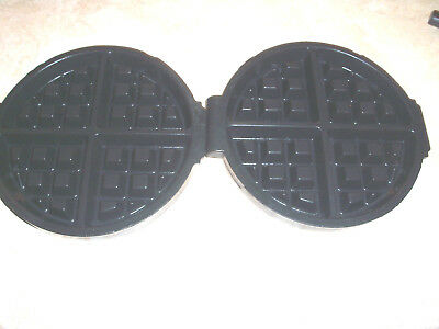 Golden Malted Waffle Machine  Plates~New