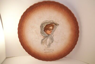 Vintage J A Moore Independence PA Souvenir Lady Plate When You Buy, Come to Us