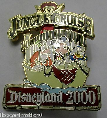Disney DLR Jungle Cruise 3D Mickey Mouse Goofy Donald Duck Pin