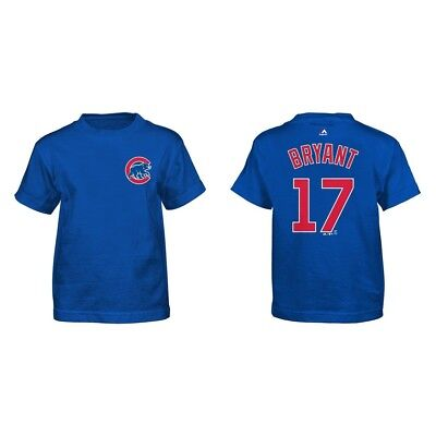 (Youth S) - Kris Bryant Chicago Cubs Blue Youth Name and Number Jersey T-shirt