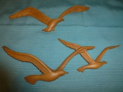 Resin Seagull Wall Plaques Homco