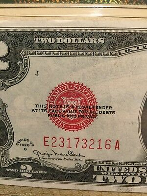 Fr-1506  1928 G 2 Dollar Red Seal United States Note Graded By Pmg 64 C/u