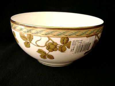 15cm WEDGWOOD GOLDEN BIRD OATMEAL NOODLE CEREAL BOWL BEST QUALITY G1 BRAND NEW