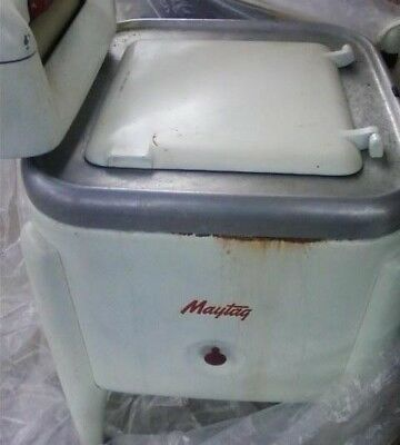 Vintage Maytag E2L Wringer Washer Square Model