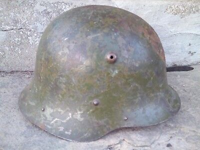 GERMAN WW2 HELMET M36 with original paint and liner size 56