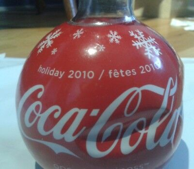BRAND NEW Coca Cola Christmas 2010 Bottle - Round Ornament Shape!