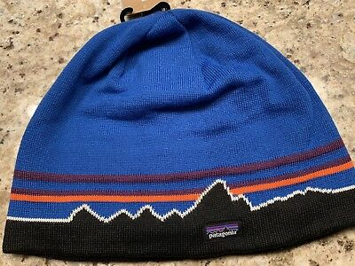 daaa971e3f6 Patagonia Unisex Classic Fitz Roy Toque Andes Blue Hat One Size Beanie
