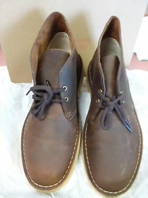 CLARKS DESERT BOOT Beeswax Brown Leather -  49.99   PicClick 7cad022fffc1