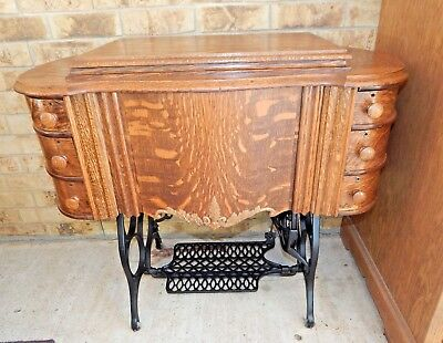 REDUCED PRICE.... Very RARE Antique 1925 IMPROVED HASNER Treadle Sewing Machine