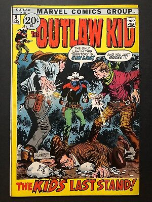 The Outlaw Kid #9 (Dec 1971, Marvel) LEGENDARY CLASSIC WESTERN COWBOY SERIES