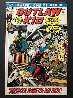 The Outlaw Kid #11 (Aug 1972, Marvel) VINTAGE BRONZE AGE COWBOY COMIC SERIES