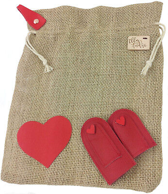 Large Needle Felting Mat & Red Leather Finger Guards Burlap Self Fill with Rice