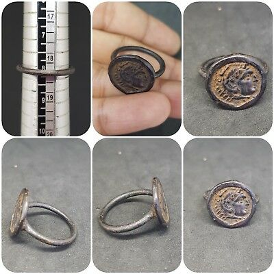 Ancient Roman Bronze very beautiful old Ring # R2