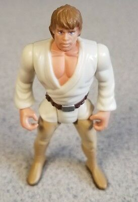"Star Wars POTF Deluxe Luke Skywalker Desert Sport Skiff 3.75"" Figure Kenner 1995"