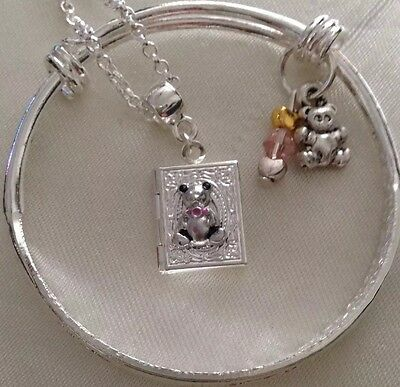 teddy Locket&sterLing Silver*Chain+925 Stamped Baby/child  Bangle /In a Box.