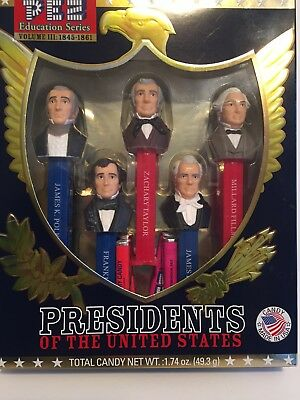 PEZ Education Series Presidents of the United States Volume III 1845-1861