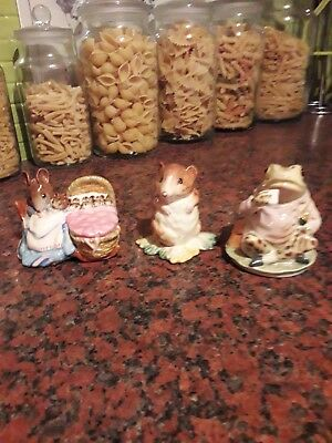 vintage beswick beatrix potter three  BP1A gold circle figurines