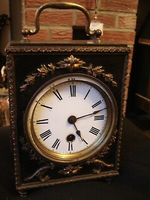 Antique French Ormolu clock Makers Stamp on Mechanism