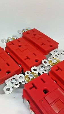 Lot of 10 Legrand Pass Seymour GFCI RED PLUGTAIL 20A PT2097RED FREE SHIPPING