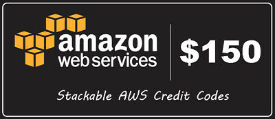 150$ AWS Amazon Web Services Credit - EC2 SQS RDS 150$ - remote desktop servers