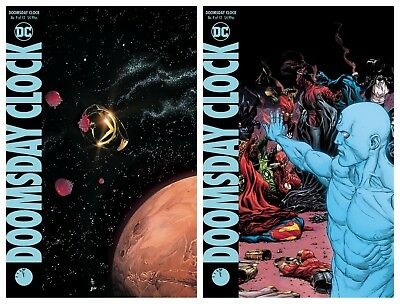 Doomsday Clock #9 Cover A & B Gary Frank Variant Set 2019 Pre-Sale Dc Nm