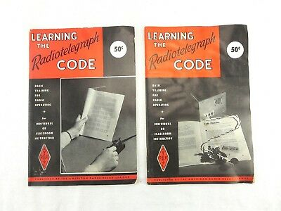 Learning The Radio Telegraph Code Vintage 1942 Manual Book ARRL Training Booklet
