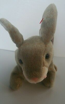 New with Tag~TY Beanie Babies ~ NIBBLY Rabbit ~ May 7, 1998 ~ FREE SHIPPING