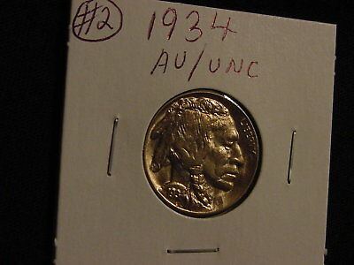 1934 Buffalo nickel in A.U. / UNC condition #2