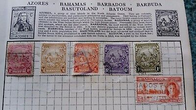 Barbados Stamps early from old album ref254