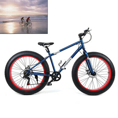 26 inch 7 speed Men's 4.0 inch wide Tire Bicycle Mountain Beach Bike Snow Bike