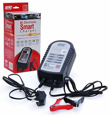 Maypole 7428 8A 12V Car Bike Caravan Van Electronic Smart Battery Charger