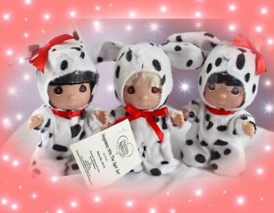 "Disney 101 Dalmatians- set of three  - Precious Moments 5.5"" Vinyl Doll"