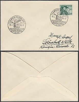Germany 1939 -  Airmail cover- Zeppelin from Leipzig.....(4G) MV-1519