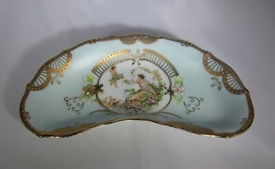 Vintage Lenwile China Ardalt Japan Dish 6812A Crescent/Kidney